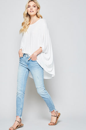 Boat Neck Dolman Top