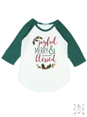 Joyful, Merry and Blessed Raglan