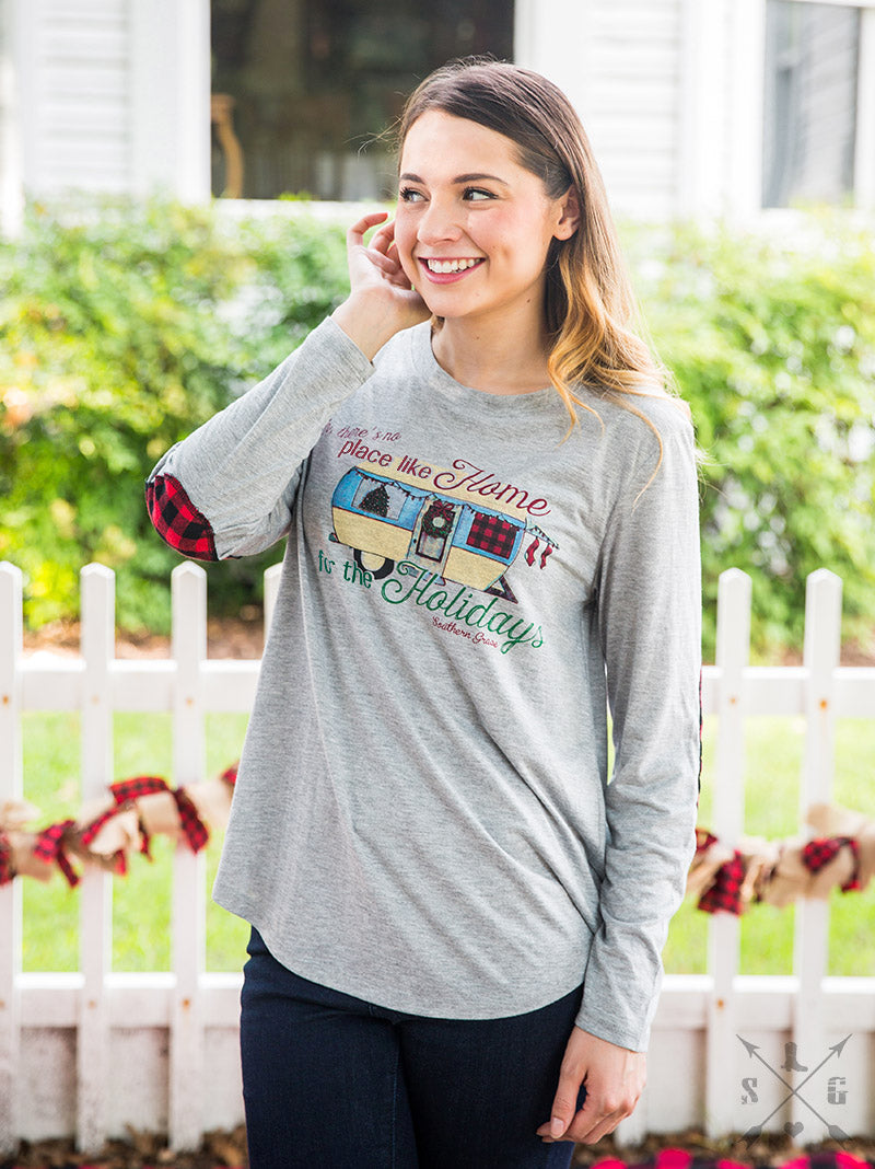 Home for the Holidays Camper Raglan