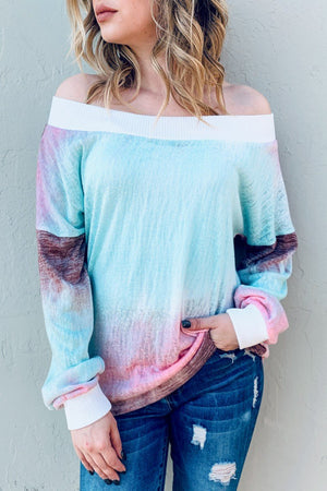 Tie Dye Off Shoulder Top