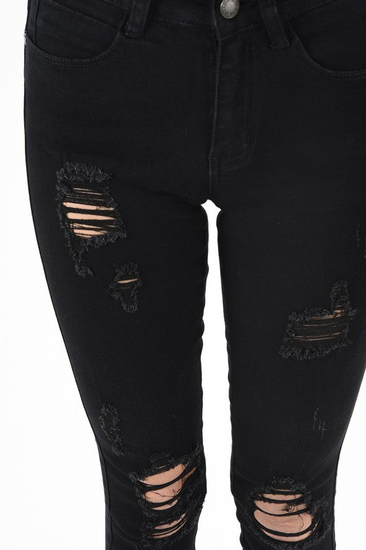 Destroyed Skinny Denim