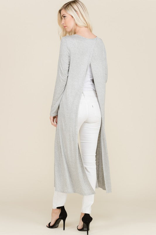 Lightweight Maxi-Cardigan