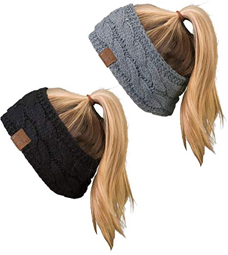 C.C Cable Knit Fleece Lined Headband