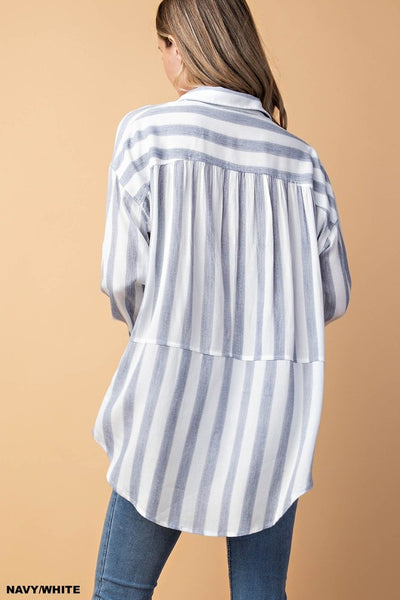 Gauze Stripe Top