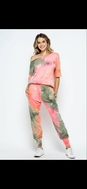 French Terry Tie-Dye Lounge Sets