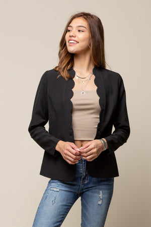Scalloped Detail Jacket
