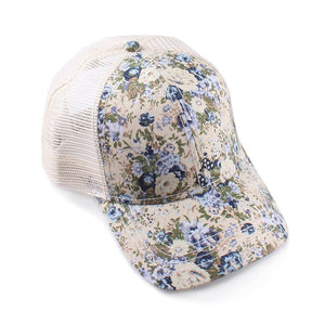 Floral Patterned Ball Cap
