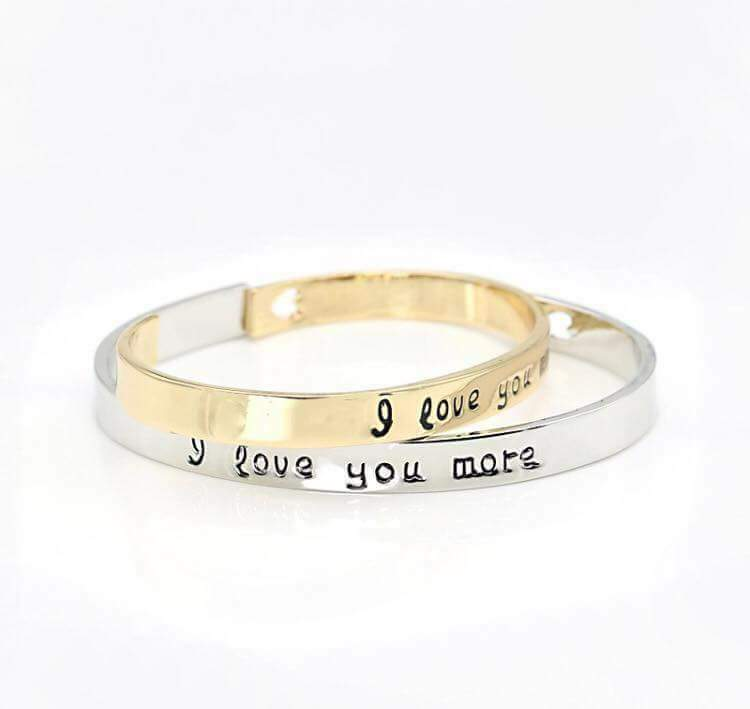 Love You More Bracelet Cuff