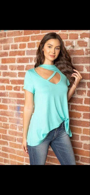 Tee with Trendy Cut Out