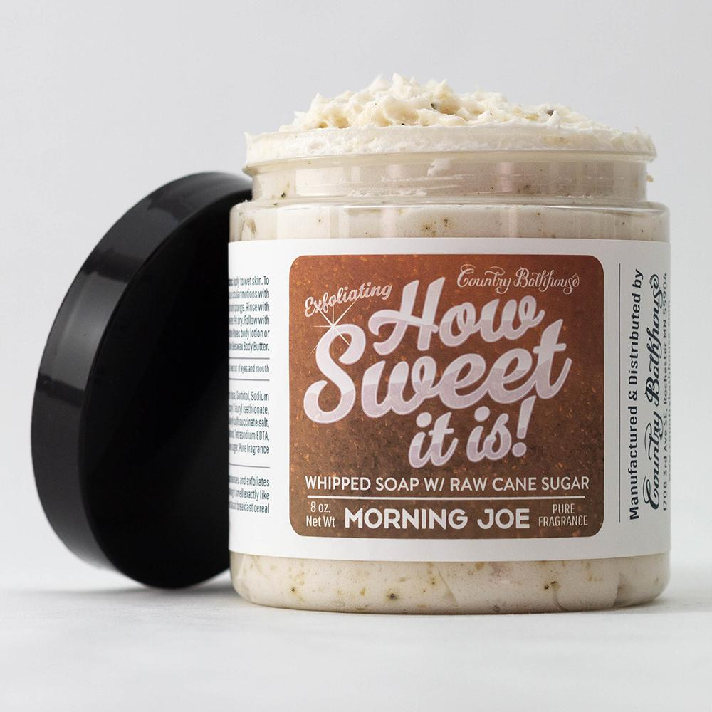 Morning Joe Whipped Soap and Raw Cane Sugar Scrub