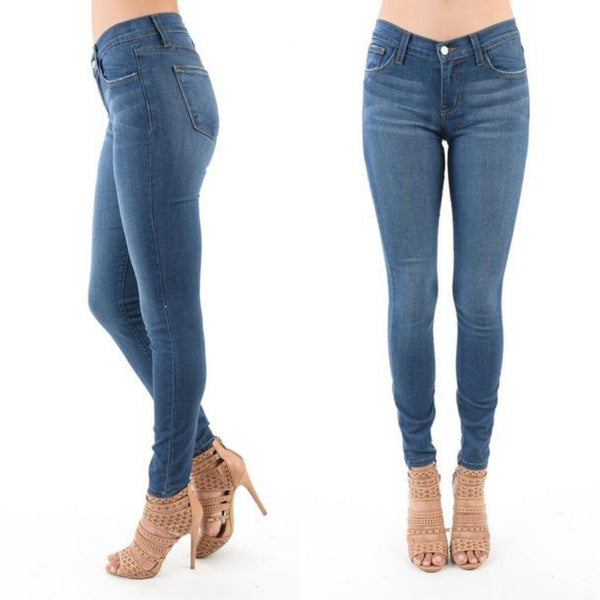 Handsand Rayon Skinny Medium Wash Denim Jeans