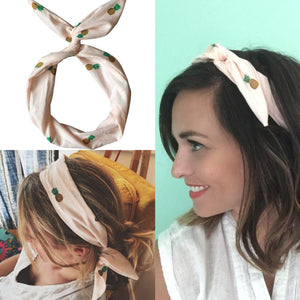 Pink Pineapple Wire Headband