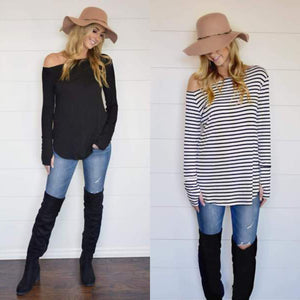 Off-Shoulder Thumbhole Top
