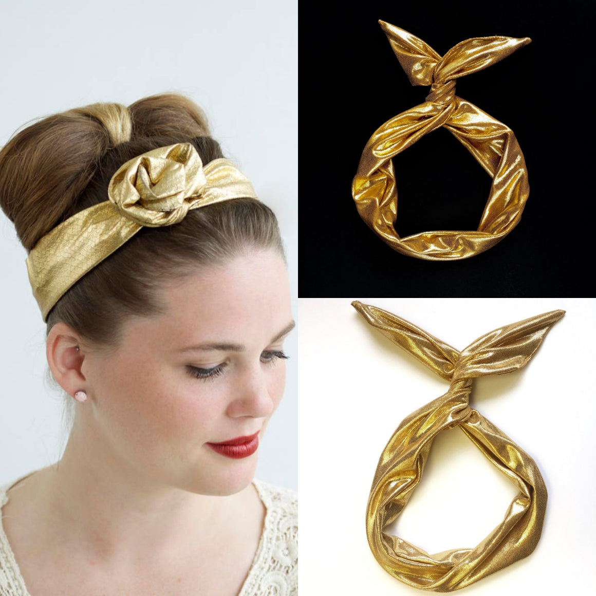 Gold Metallic Wire Headband