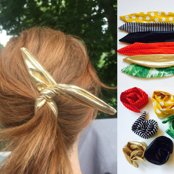 Gold Metallic Wire Ponytail Twist