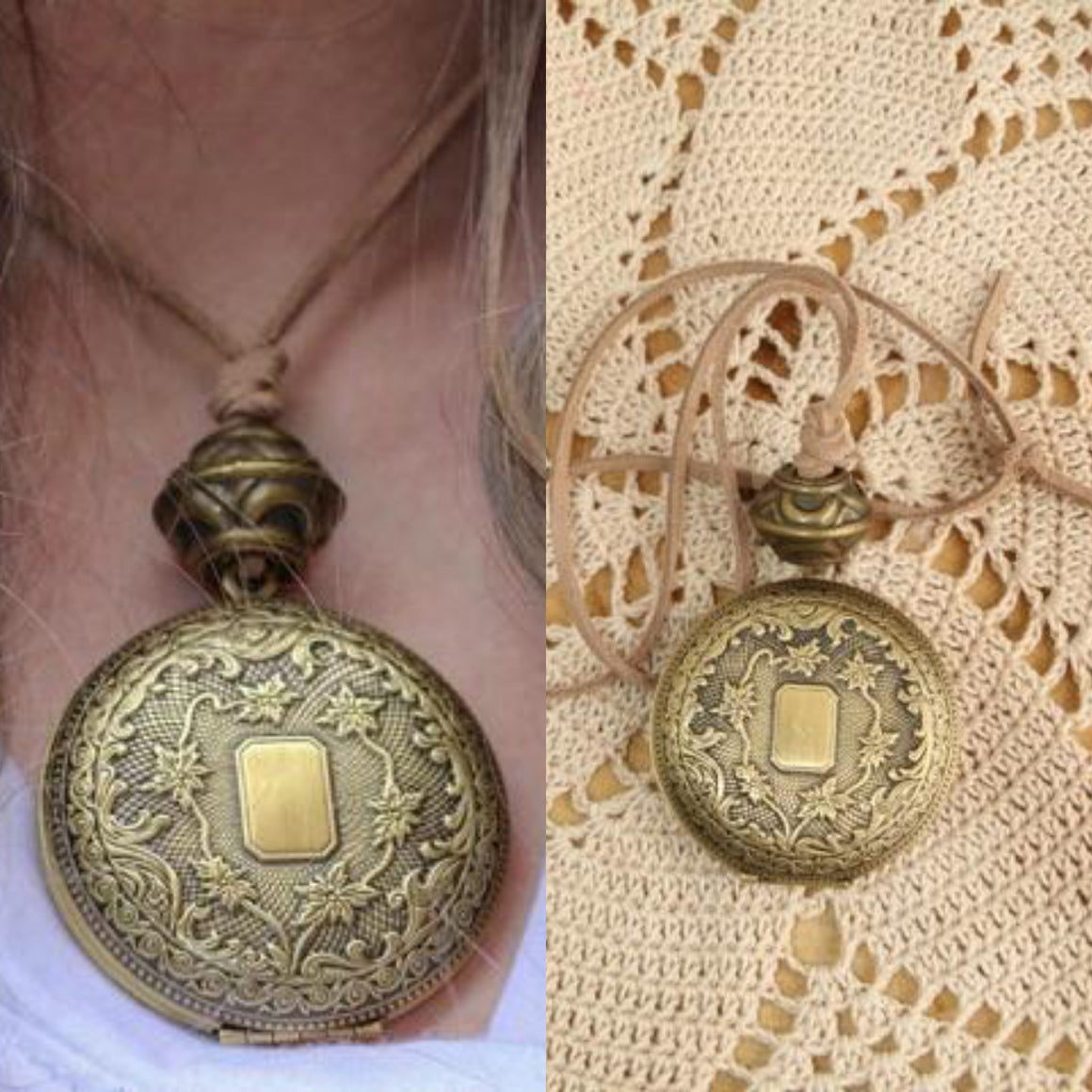 Antique Bronze Bead Locket