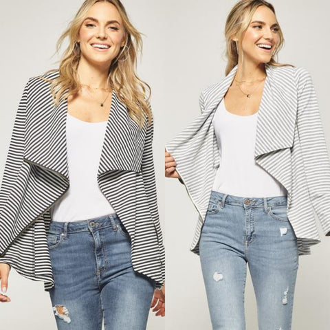Asymmetrical  Zip Stripe Jacket