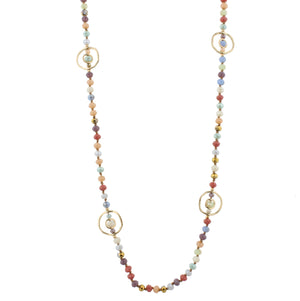 Handknotted Necklace with Stations