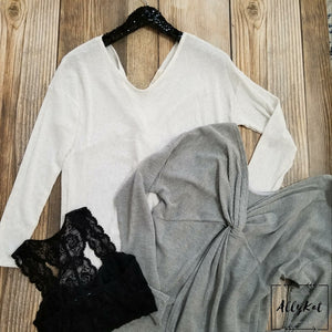 Twist Back Lightweight Sweater