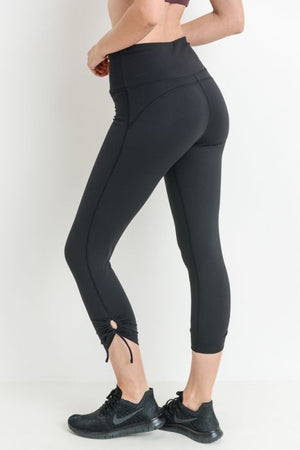 Capri Highwaist Tie Accent Athletic Legging