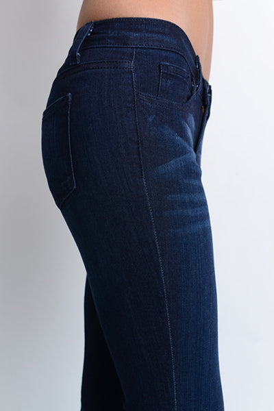 Fitted Trouser Flare Leg Jean
