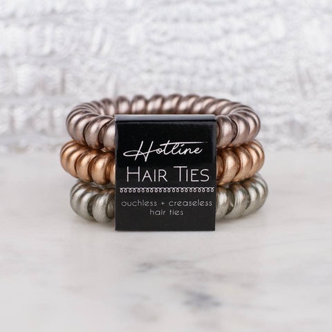 Creaseless Hairties in Black Label Mixed Metals