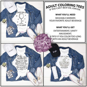 Adult Coloring Tee Shirt