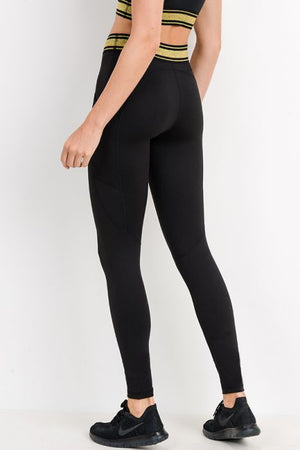 Highwaist Gold Band Athletic Leggings