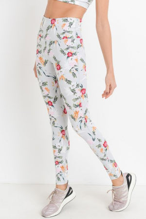 Ikebana Highwaist Floral Print Leggings