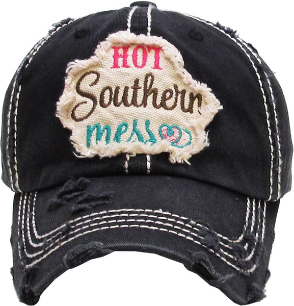 Hot Southern Mess Washed Vintage Hat