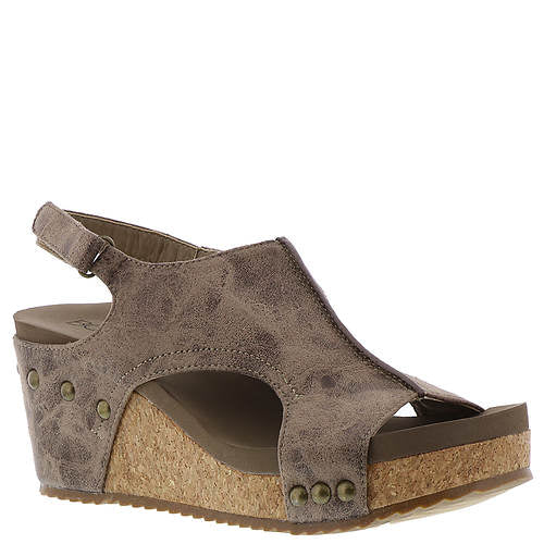 Brown Distressed Wedge