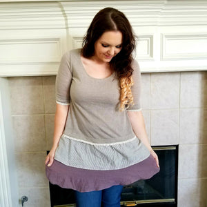 Double Ruffle Tunic With Crochet Trim