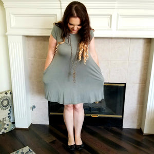 Trapeze Knit Pocket Dress