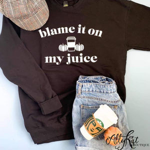 Blame It On My Juice Graphic Sweater
