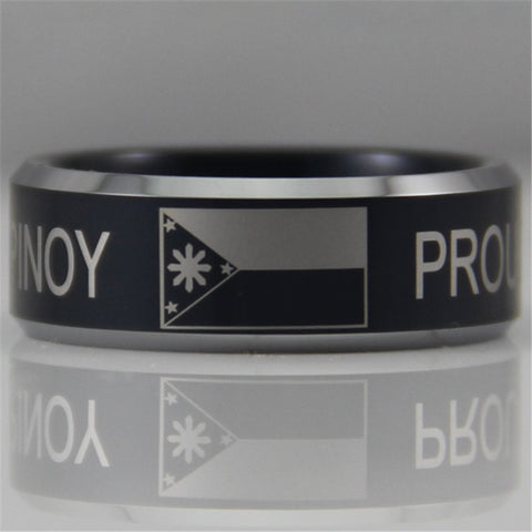 Beautiful Tungsten Proud Pinoy Ring