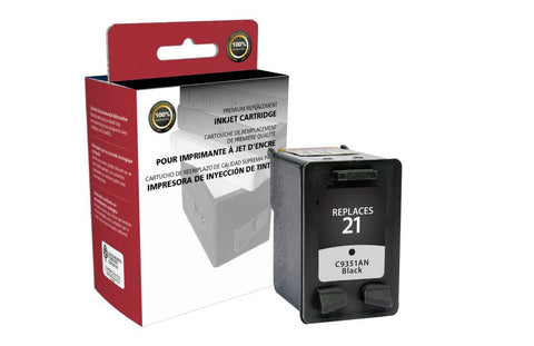 Black Ink Cartridge for HP C9351AN (HP 21)