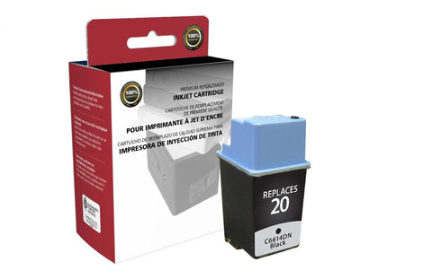 Black Ink Cartridge for HP C6614DN (HP 20)