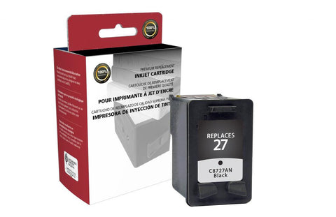 Black Ink Cartridge for HP C8727AN (HP 27)