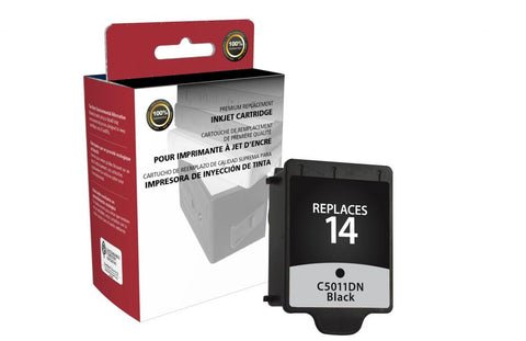 Black Ink Cartridge for HP C5011DN (HP 14)