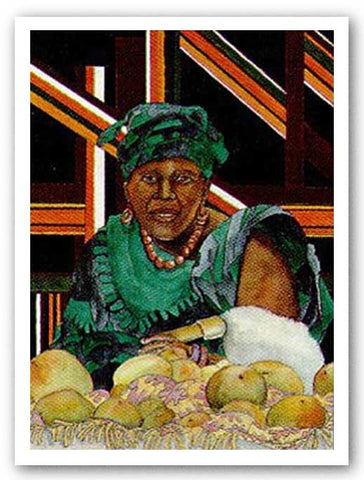 Fruit Vendor - Limited Edition by Betty Biggs