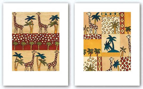 Giraffe Stroll Set by Dominique Gaudin