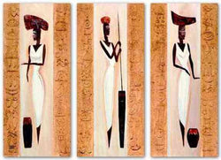 Nubile Nubian Set by Alfred Gockel