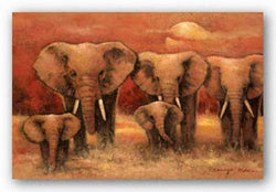Bull Elephants by Kanayo Ede