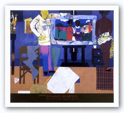 Profile/Part II, The Thirties: Artist With Painting and Model, 1981 by Romare Bearden