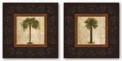 Sago Palm and Mediterranean Palm Set by Keith Mallett