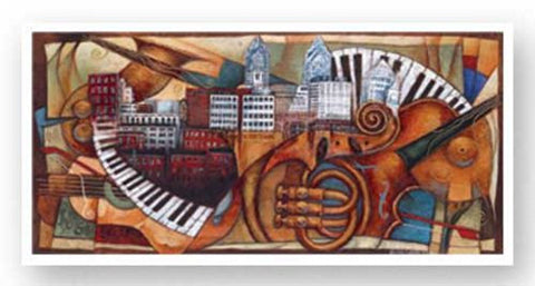 Philly Jazz (2005 Commemorative Poster) by Sidney Carter
