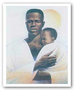 Father and Child by Keith Mallett
