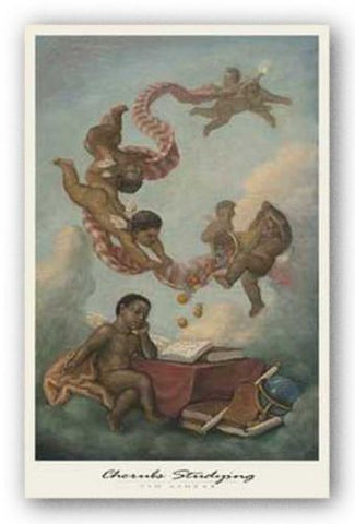 Cherubs Studying by Tim Ashkar