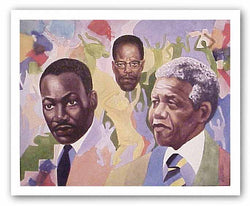 MLK, Malcolm X, and Nelson Mandela by Clifford Hobbs