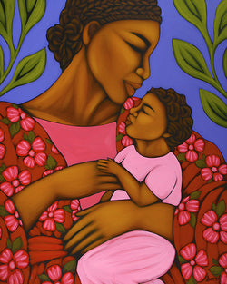 African Mother and Baby by Tamara Adams